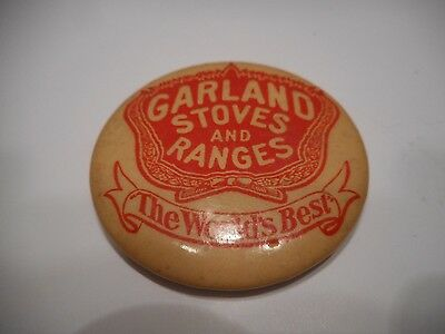 Vintage Garland Stoves And Ranges Advertising Celluloid Pocket Mirror
