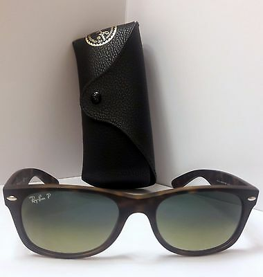 11f3a9a9b7 Ray Ban New Wayfarer Polarized Rb2132 894 76 52-18 Sunglasses Made In Italy