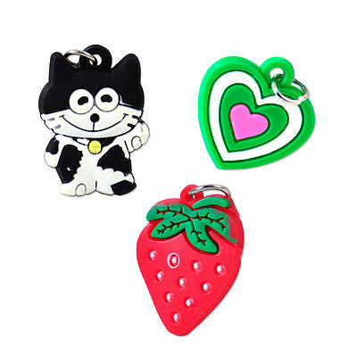 50pcs Silicone Loom Charms Cartoon Hangs Rainbow Bands Bracelet DIY Crafts Gifts