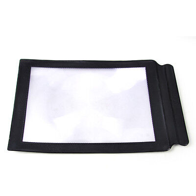 New 3X Big A4 Large Full Page Magnifier Sheet Magnifying Glass Reading Aid Lens