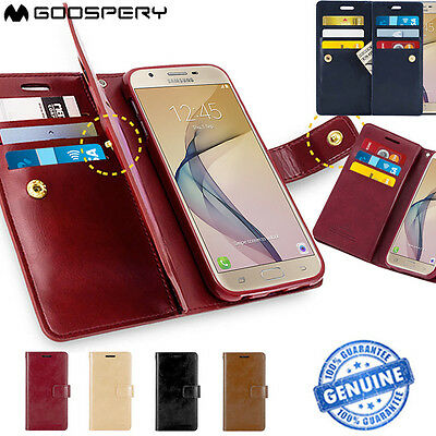 Galaxy J7 Prime Case Mercury Mansoor Wallet Leather Card Slots Cover for Samsung