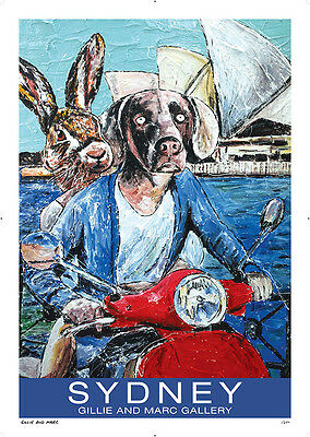GILLIE AND MARC-direct from the artists-authentic artistic poster Sydney travel