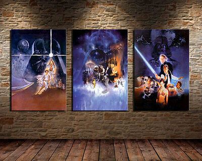 Oil Painting HD Print Home Wall Decor Art on Canvas Star Wars Poster 3PCS