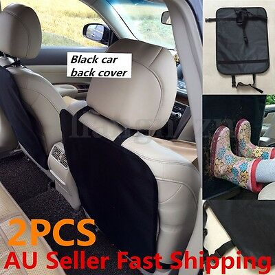 2 X Car Baby Seat Back Protector Children Kick Mat Cushion Cover Auto Care Set