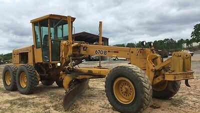 John Deere 670B Motor Grader.1990. Very good condition. Free delivery in Utah!