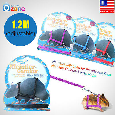 Outdoor Harness with Lead for Ferrets and Rats Hamster Leash Rope
