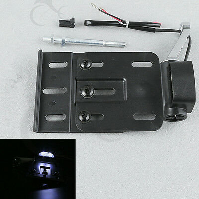 Folding LED Light Mount License Plate For Harley Davidson Sportster XL1200 883