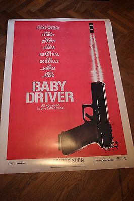 BABY DRIVER (2017) - ADVANCE POSTER 27x40 DS ORIGINAL