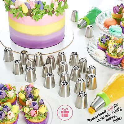 34/52pcs Russian Flower Icing Piping Nozzles Cake Decoration Tips Kitchen Tools