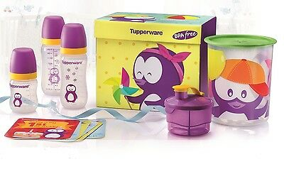 New Tupperware Twinkle Baby Set - Baby Bottles, Formula Dispenser, One Touch Sma