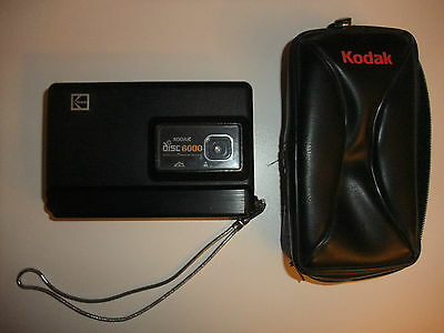 Vintage Kodak Disc 6000 Camera With Case, Wrist Strap  Made In U.S.A.
