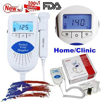 FDA Sonoline B Pocket Fetal Doppler Prenatal Baby Heart Monitor 3MHz probe,Gel