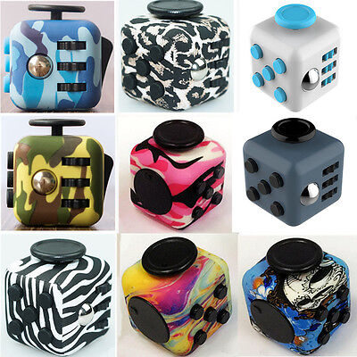 Stress Relief Focus 6-side Desk Toy Magic Fidget Cube Adults kids ADHD&AUTISM