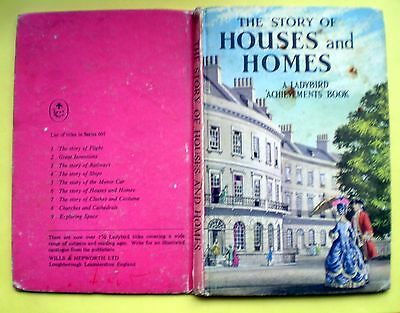 The Story Of Houses And Homes Ladybird vintage book history hall manor castle