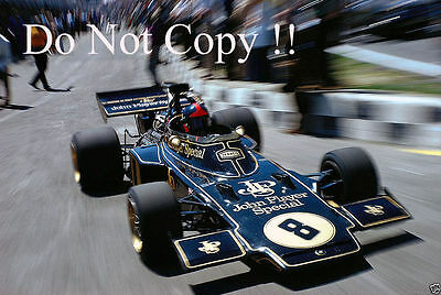 Emerson Fittipaldi JPS Lotus 72D Winner British Grand Prix 1972 Photograph 1