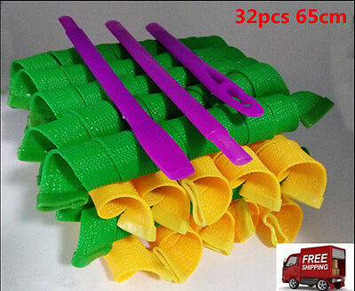 32pc 65CM DIY Hair Curlers No Heat With 1 Set of Styling Hook Magic Rollers