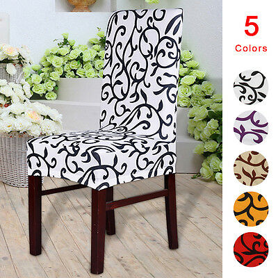 2/4/6 x Stretch Seat Cover Removable Slipcovers Dining Room Seat Chair Cover