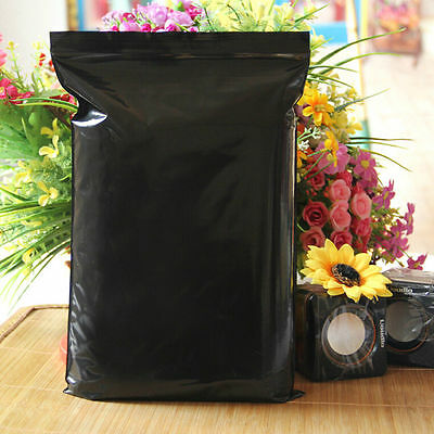 Ziplock Reclosable Bag Grip Seal Black Plastic Bag Lightproof Packaging Pouch