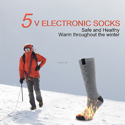 1 PAIRS Qilove  ELECTRIC Battery Operated Heated Thermal Socks Hunting Fishing