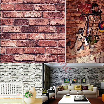 Modern 3D Simulat Room Faux Brick Wallpapers Vinyl Wall Paper Home Kitchen Decor