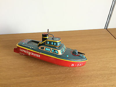 Tin Toy barca made in japan Express Cruiser B-341 a frizione latta vintage