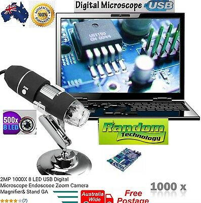 1000X8 Digital LED USB Microscope Endoscope PC Video Camera TE103 Zoom Magnifier