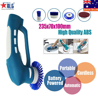 Automatic Household Scrubber Cordless Battery Powered for Bathroom and Kitchen