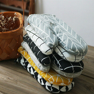 Cooking Microwave Insulated Oven Gloves Mitts High Temperature Baking Tools