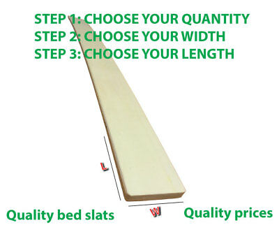 Single Replacement Bed Slat - 970 X 60 Mm -  Brand New