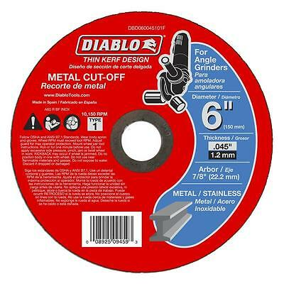 Diablo 6 inch Metal Cutting Disc 10 Pack Wheel Cut Off Disk Angle Grinder Cutter