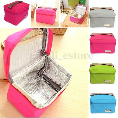 Portable Oxford Thermal Insulated Lunch Box Tote Cooler Bento Picnic Storage Bag