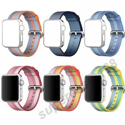 Sports Royal Woven Nylon Bracelet Wrist Band Strap For Apple Watch 38mm/42mm