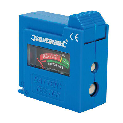 Silverline Compact Battery Tester 1.5/9V 918147