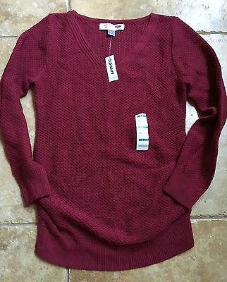 Old Navy Maternity Small S New NWT Sweater V Neck Long Sleeve Motherhood