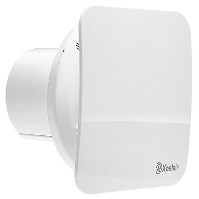 Xpelair Simply Silent Round Bathroom Ghost Square Extract Fan 92960AW - C4S