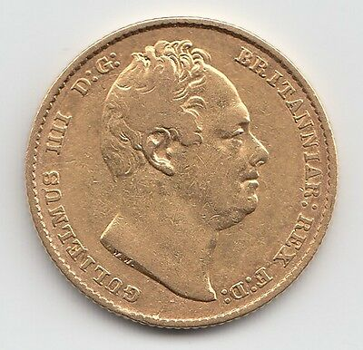 1837 William IV Gold Sovereign - Great Britain