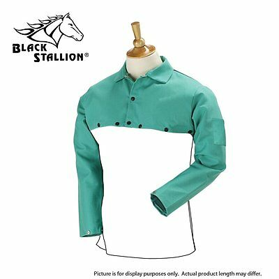"Revco Black Stallion F9-21CS 9oz Green FR Cotton Welding Cape Sleeve 20"" Bib"