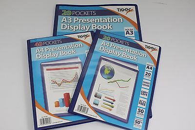 A4 Or A3 Tiger Presentation Display Book. 20 Or 40 Pockets. 50% Recycled Folder.