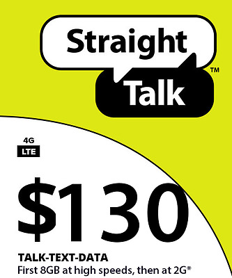 Straight Talk $130 Unlimited 90 Day Plan Card Wlm