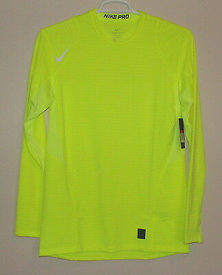 NWT Nike Men's Pro Warm Fitted Long Sleeve Shirt Pullover Size S L 725035