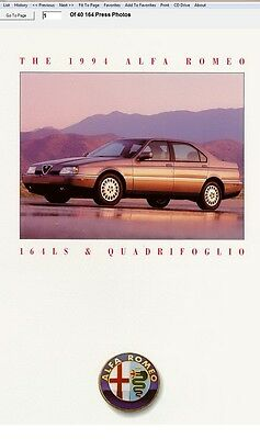 Manuale Officina Alfa Romeo 164 1994 1995 Workshop Manual Service Software