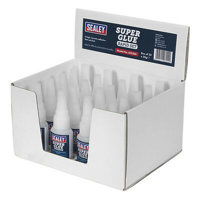 Genuine SEALEY SCS304 | Super Glue Rapid Set 20g Pack of 20
