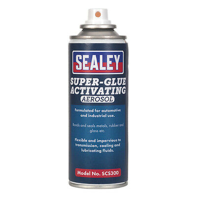 Genuine SEALEY SCS300 | Super Glue Activating Aerosol 200ml Pack of 6