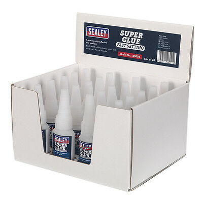 Genuine SEALEY SCS302 | Super Glue Fast Setting 20g Pack of 20
