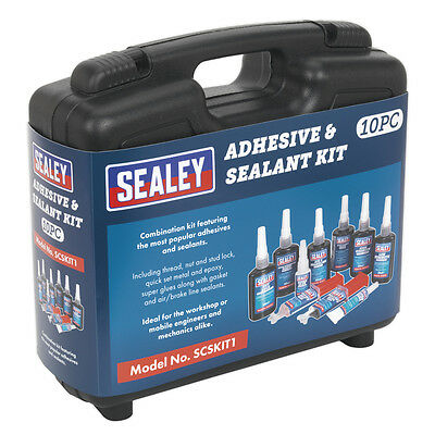 Genuine SEALEY SCSKIT1 | Adhesive & Sealant Kit 10pc