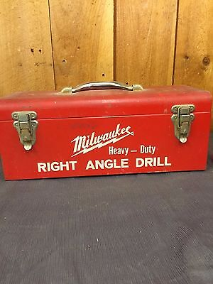 """Milwaukee Corded Right Angle Drill 1101-1 """"Old Style"""" With Metal Case"""