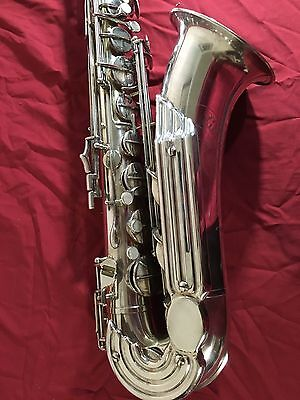 Vintage Silver Keilwerth Tenor Saxophone 1956 OHSC & Stand VIDEO!