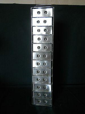 12 Box S.Steel Vertical Freezer Rack, w/ Boxes w/ 81 Cell Dividers, w/o Lock Rod