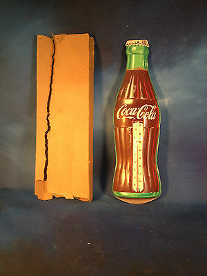 Vintage 1950'5 Coca-cola thermometer (working) By Robertson /never displayed