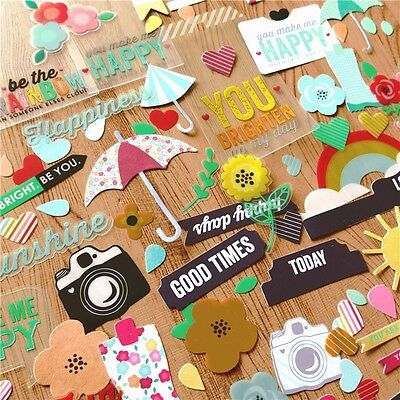 136 pieces pvc Die Cuts DIY Scrapbooking Planner, Papercraft, Collage FREE SHIP